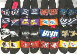 Men's NFL Cropped Big Logo Slide Shoes Sandals FOCO Forever