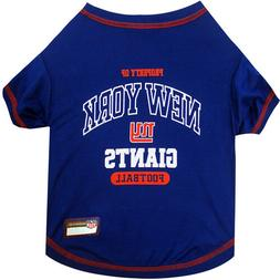 New New York Giants Officially Licensed NFL Dog Pet Tee Shir