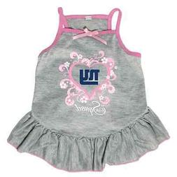 NEW NEW YORK GIANTS PET DOG PINK TOO CUTE SQUAD CHEERLEADER