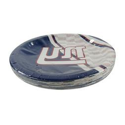 "New NFL New York Giants 9.75"" Disposable Paper Plates Party"