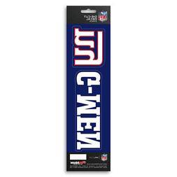 New NFL New York Giants Die-Cut Vinyl Slogan Decal Pack / Bu