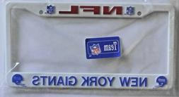 NEW NFL New York Giants License Plate Frame