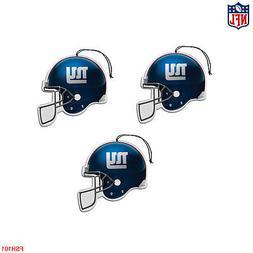 New NFL New York Giants Paper Hanging Air Freshener 3 pack O