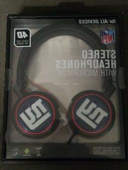 New NFL New York Giants Mizco Steel Cut 4D Logos Headphones