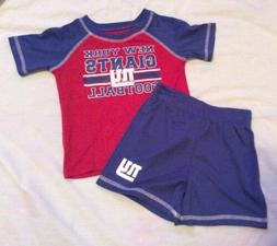 New NFL TEAM APPAREL NEW YORK GIANTS TODDLER SET SHORTS/SHIR