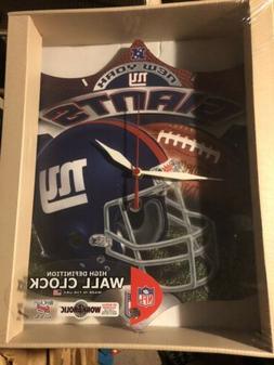 New Official NFL New York Giants Hi-Definition Wall Clock Ne