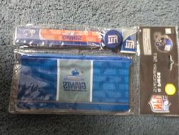 New Sealed NFL Licensed NEW YORK GIANTS 4 Piece Stationary S