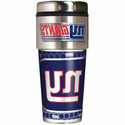 NEW YORK GIANTS 16 OZ STAINLESS STEEL COFFEE TRAVEL MUG WITH