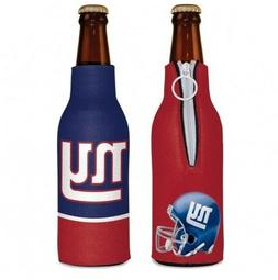 NEW YORK GIANTS 2 SIDED BOTTLE COOLER/KOOZIE NEW AND OFFICIA
