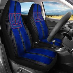 New York Giants 2Pcs Car Seat Cover Personalized Nonslip Aut