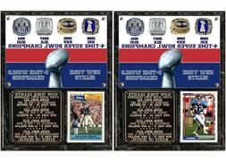 New York Giants 4-Time Super Bowl Champions Card Plaque