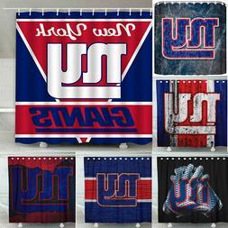 "New York Giants 72"" x 72""  Waterproof Bathroom Shower Curtai"