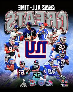 New York Giants ALL-TIME GREATS Premium Poster Print MANNING