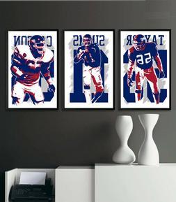 NEW YORK GIANTS art print/poster FAN PACK #1 3 PRINTS! SUPER