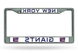 New York Giants BOLD DESIGN Chrome Metal License Plate Tag F