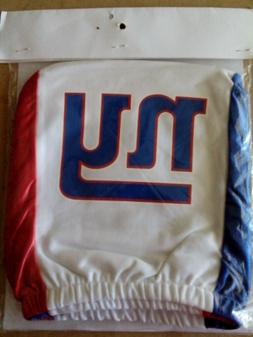 NEW YORK GIANTS BRAND NEW CAR SEAT HEAD REST COVER WHITE ONE