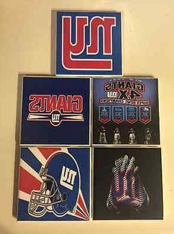 New York Giants Ceramic Tile Coasters