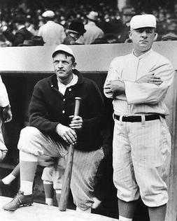 New York Giants CHRISTY MATHEWSON & JOHN MCGRAW Glossy 8x10