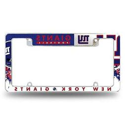 New York Giants Chrome License Plate Frame All Over Tag Cove
