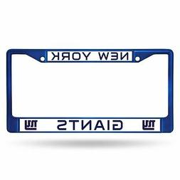 New York Giants Blue Chrome License Plate Frame