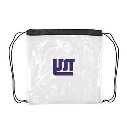 New York Giants Clear Gameday Drawstring Bag