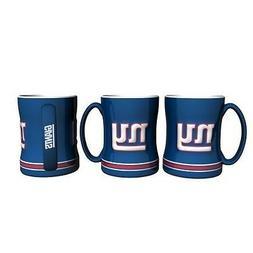 New York Giants Coffee Mug Relief Sculpted Team Color Logo -