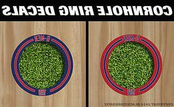 New York Giants Cornhole Ring Hole Decals - Set! +2 FREE Tea