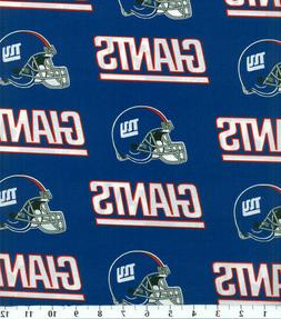 """NEW YORK GIANTS COTTON FABRIC FQ 1/4yd 18""""x28"""" perfect for"""