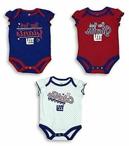 NFL Team Apparel New York Giants Creeper Bodysuit Girl's Set