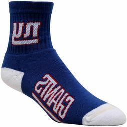 New York Giants Dual-Color Logo Crew Socks - Royal Blue - NF