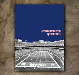 New York Giants Football Art Sports Poster NFL Print Rare Ho
