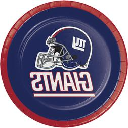 New York Giants Football Dessert Plates Decoration Party Fav