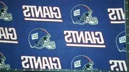 """New York Giants Football Fabric NY Helmet Logo 18"""" x 22"""" 100"""
