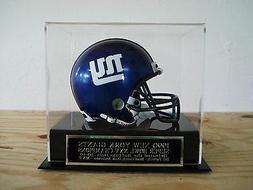 New York Giants Football Mini Helmet Case With A Super Bowl