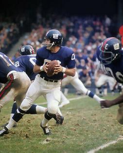 New York Giants FRAN TARKENTON 8x10 Photo Yankee Stadium Pri