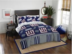 New York Giants NFL Full Comforter & Sheets, 5 Piece NFL Bed