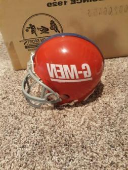 New York giants G-MEN custom mini helmet red shell riddell v