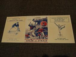 New York Giants Game Program Cover 8x10 Photos for 3 NFL Tit
