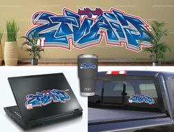 New York Giants Graffiti Vinyl Vehicle Car Laptop Wall Yeti