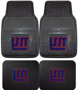 New York Giants Heavy Duty Floor Mats 2 & 4 Pc Sets for Car