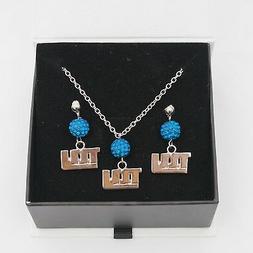 New York Giants Jewelry Shamballa Bead Crystal Necklace and