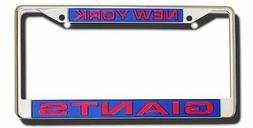 New York Giants LASER CUT FRAME Chrome Metal License Plate C