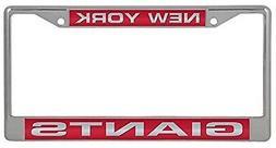 New York Giants LASER FRAME Chrome Metal License Plate Tag C