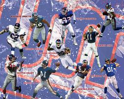 New York Giants Lithograph print of All time Greats