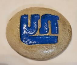 "New York Giants Logo Decorative Rock Stone NFL-4"" x 5"" -Flat"