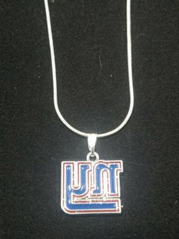 New York Giants Logo Pendant Necklace Sterling Silver Chain