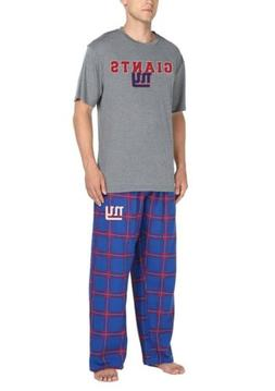 NFL Team Apparel New York Giants Men's Pajama Sleep Set Si