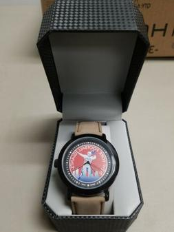 New York Giants Game Time Mens Quartz Metal and Leather Watc