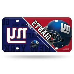 New York Giants Metal License Plate  NFL Tag Auto Truck Car