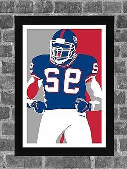 New York Giants Michael Strahan Portrait Sports Print Art 11